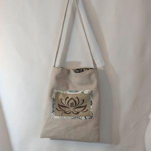Milk Drunk Clothing Bags - Lotus Flower Reusable Market Bag Shopping Tote NWT